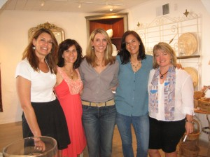 My friend Kris, center, hosted a party for The Playgroup at her Phoenix store full of treasures, Trouvé Antiques, Home & Garden.  Here we are with our childhood friends Laurie, Patti, and Frances.
