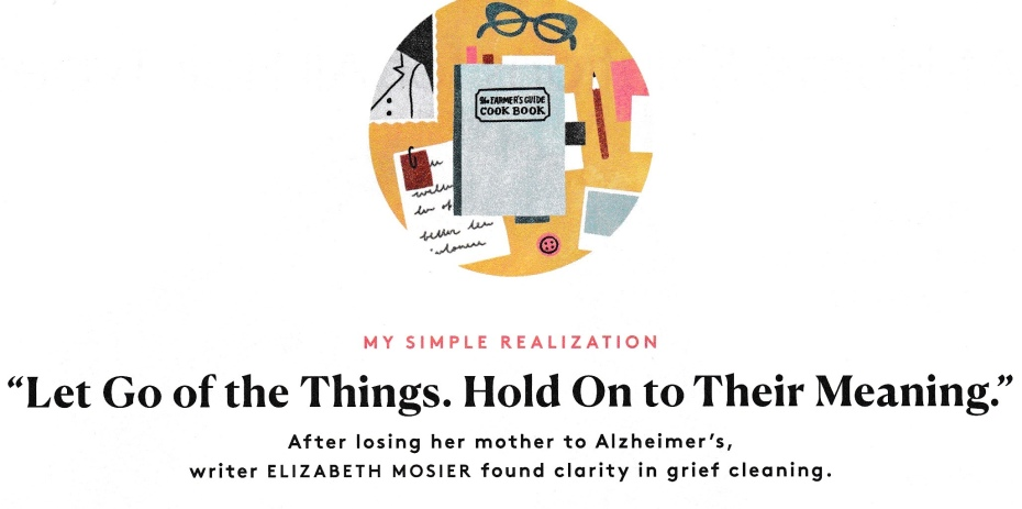 Grief Cleaning Illustration from Real Simple